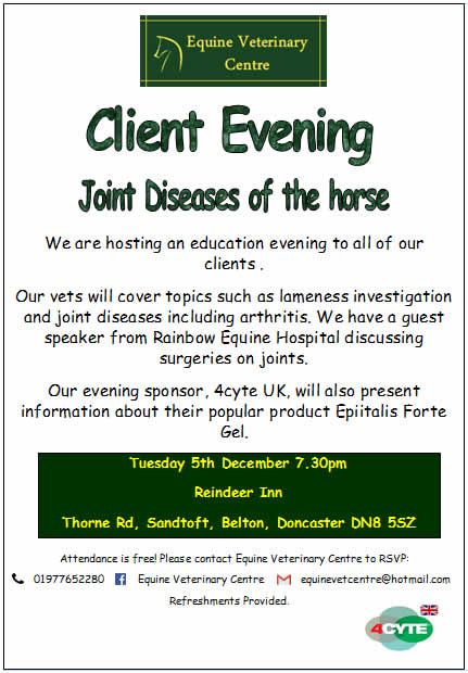 Client Evening Equine Veterinary Centre