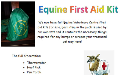 We have Equine First Aid Kits for sale