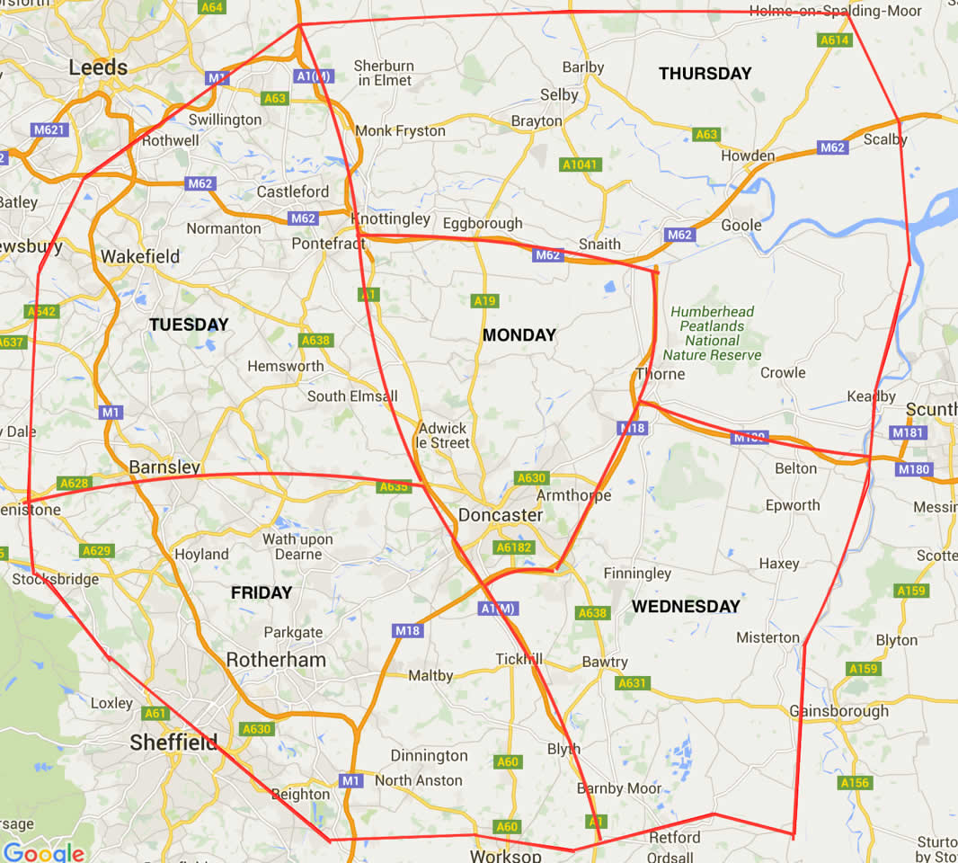 Zone Map Equine Veterinary Centre South Yorkshire